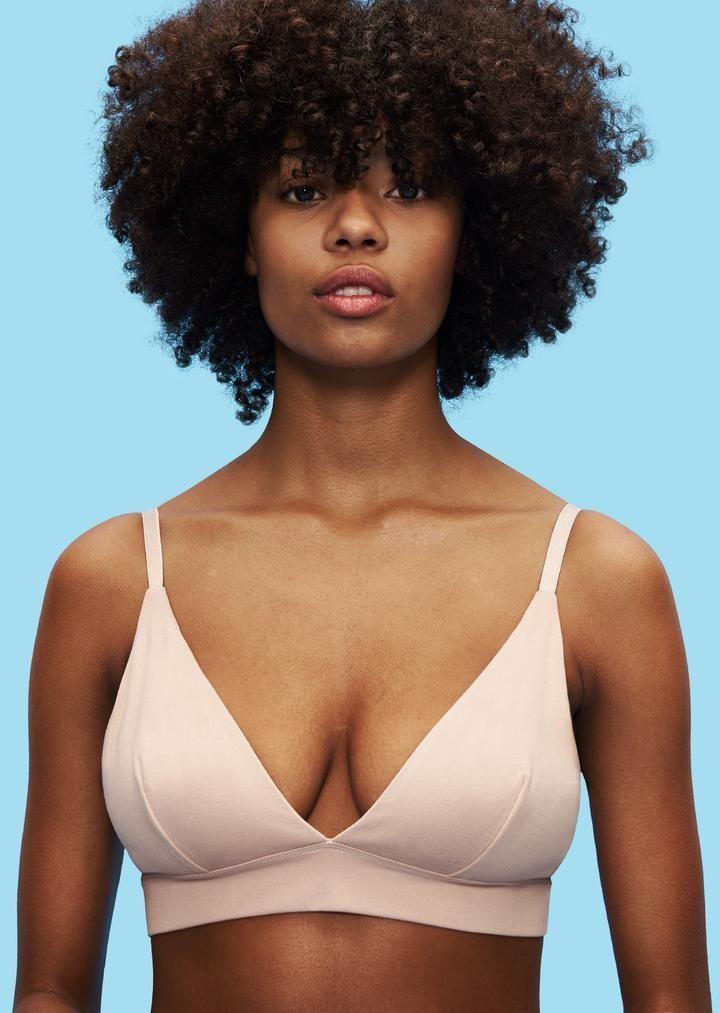 db14aae6368f9 organic cotton womens triangle bra rose nude