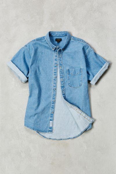 CPO Denim Short-Sleeve Button-Down Shirt - Urban Outfitters