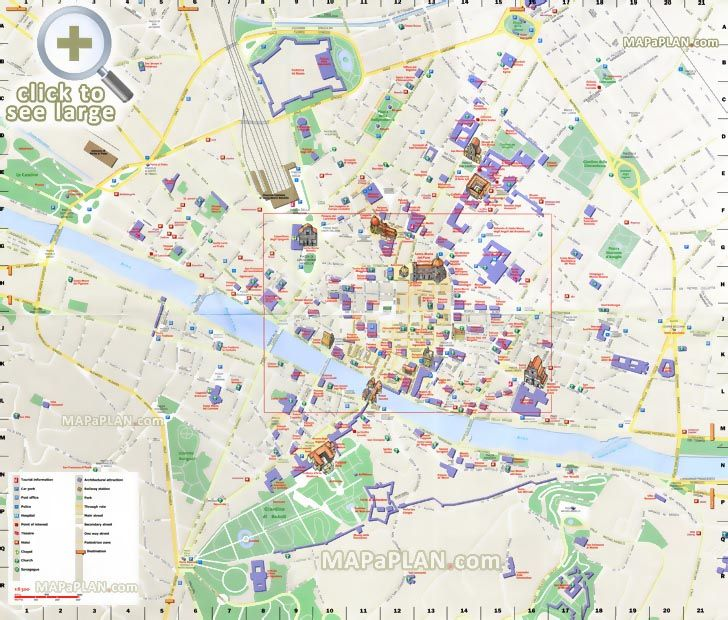 9 best Florence top tourist attractions city travel maps images on