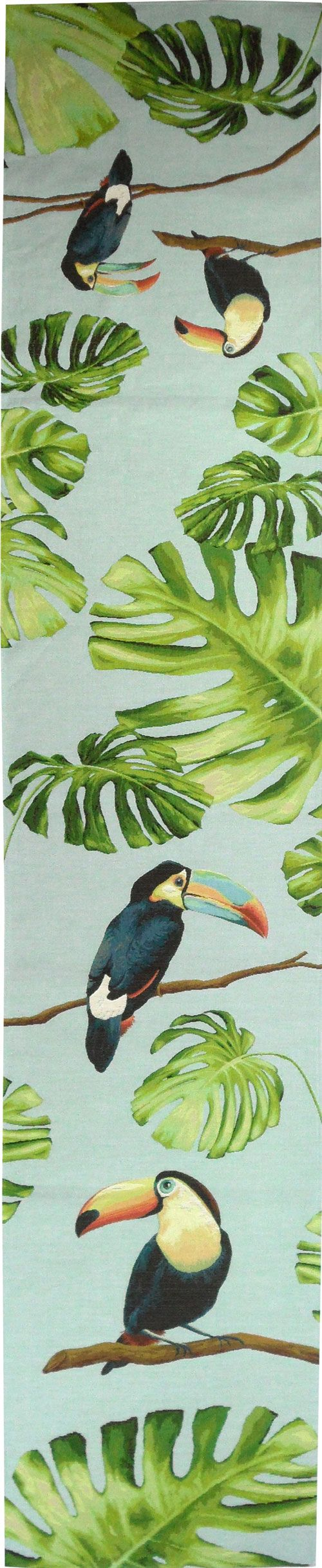 chemin de lit jacquard 50x240 cm toucan bleu toucan hornbill pinterest love this love. Black Bedroom Furniture Sets. Home Design Ideas