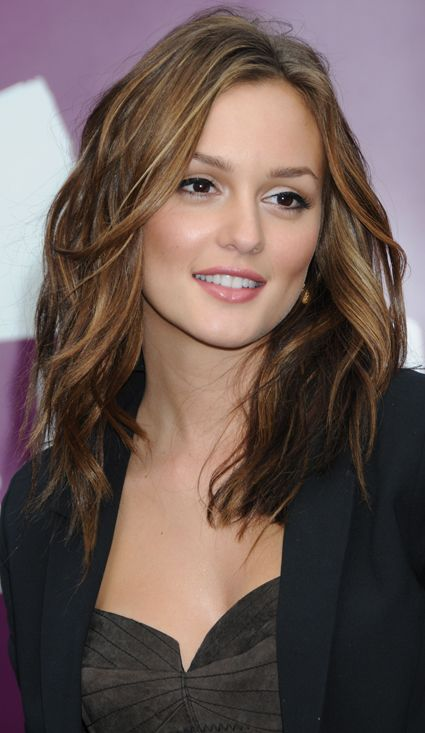 .mid-length with highlights...possible future haircut. Jess: a great length for you, just below the collarbone. you can tie it up or wear it down.