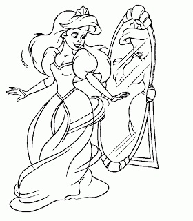 Disney Ariel Coloring Pages