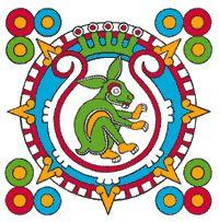 Image result for sol y luna azteca etnica