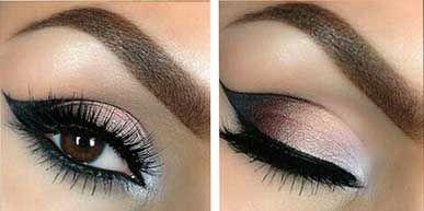 Luxusné líčenie pre hnedé oči via @akademiakrasy