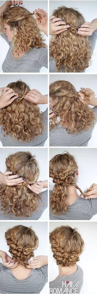 Belle idée coiffure pour les cheveux bouclés !