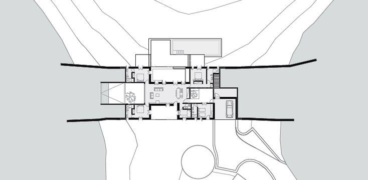 Architecture: House built into the landscape | LibreInk + art + culture + design.