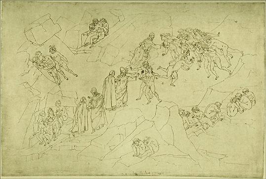 Les Négligents morts de mort violente (Dante Purg ch5) - Botticelli