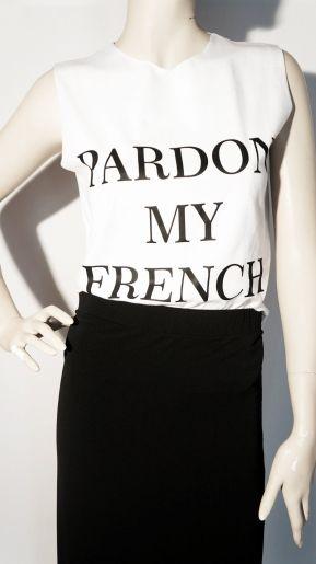 Μπλούζα μακό PARDON MY FRENCH