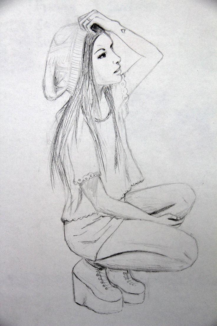 A freehand drawing i did of a girl that i saw on tumblr Melissa Chan©