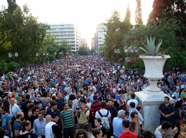 Anti-austerity Movement in Greece. Athens, Syntagma square