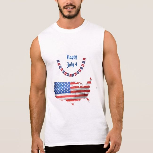 Independence Day July 4 American Flag USA Country Sleeveless Shirt | Zazzle.com