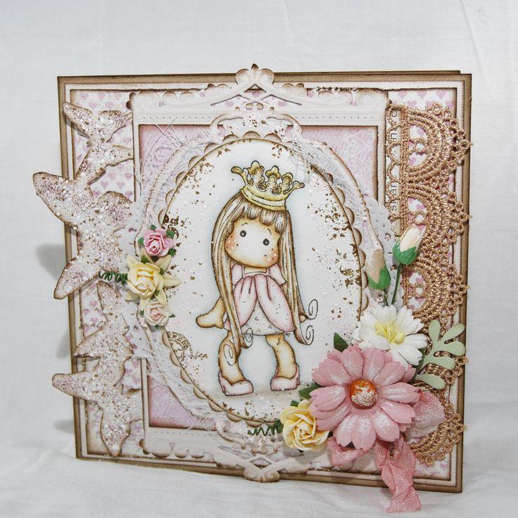 Princess Tida with curl kort