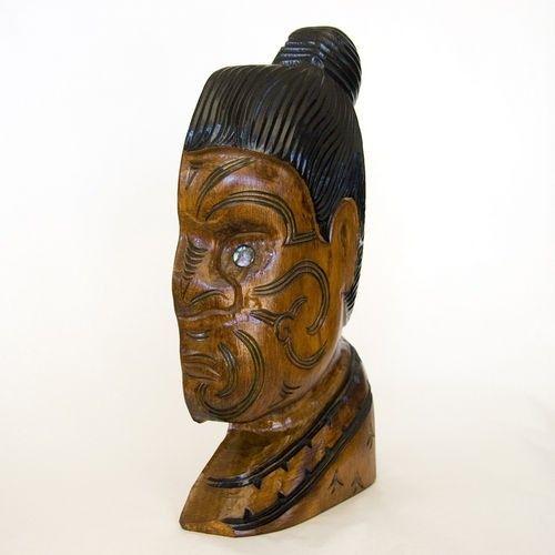 Hand Carved Maori Warrior Profile