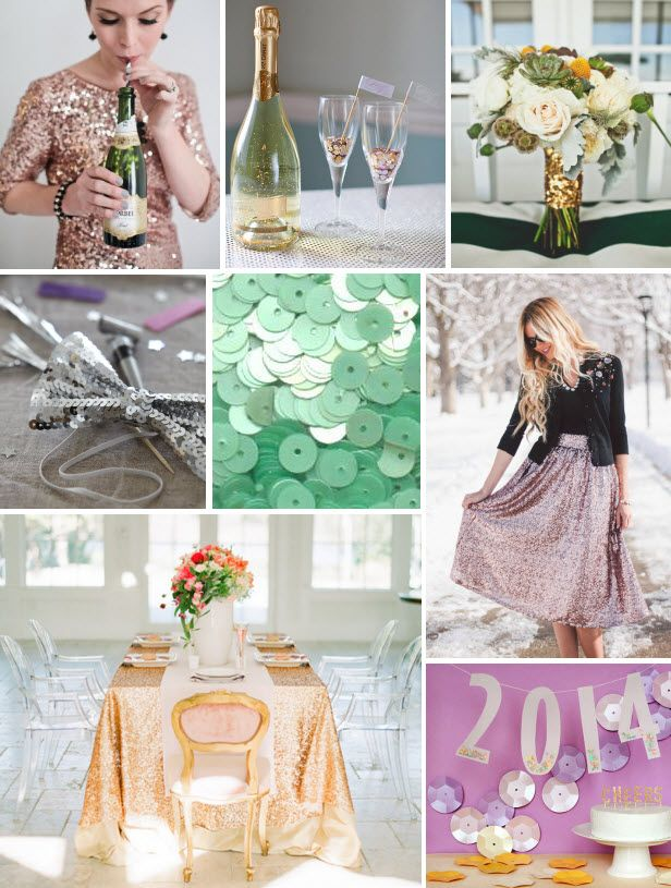 Mood Board Monday: Sequins (http://blog.hgtv.com/design/2013/12/30/mood-board-monday-sequins/?soc=pinterest)Kids Parties, Bows Ties, Years Parties, Years Celebrities, Sequins Bows, Parties Ideas, Blog, Kid Parties, Design