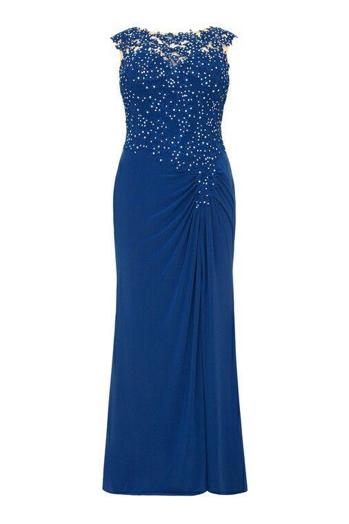 Royal blue Pageant Gown Plus Size
