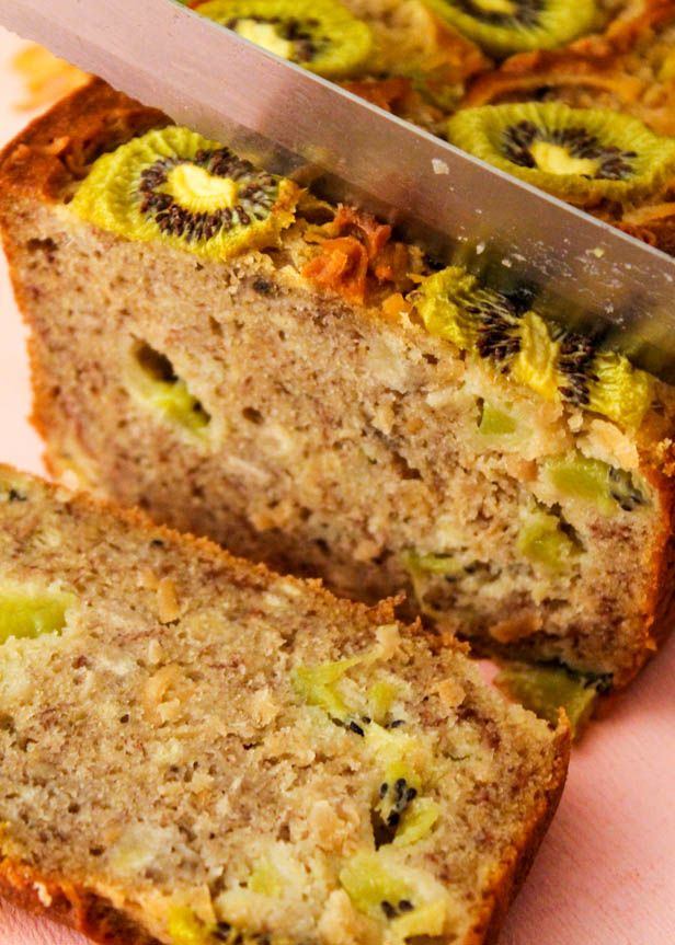 Coconut Kiwi Banana Bread- im going to add banana and nutella