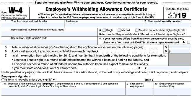 The 2020 W4 Form And How To Fill Out A W4 W4 Tax Form Form