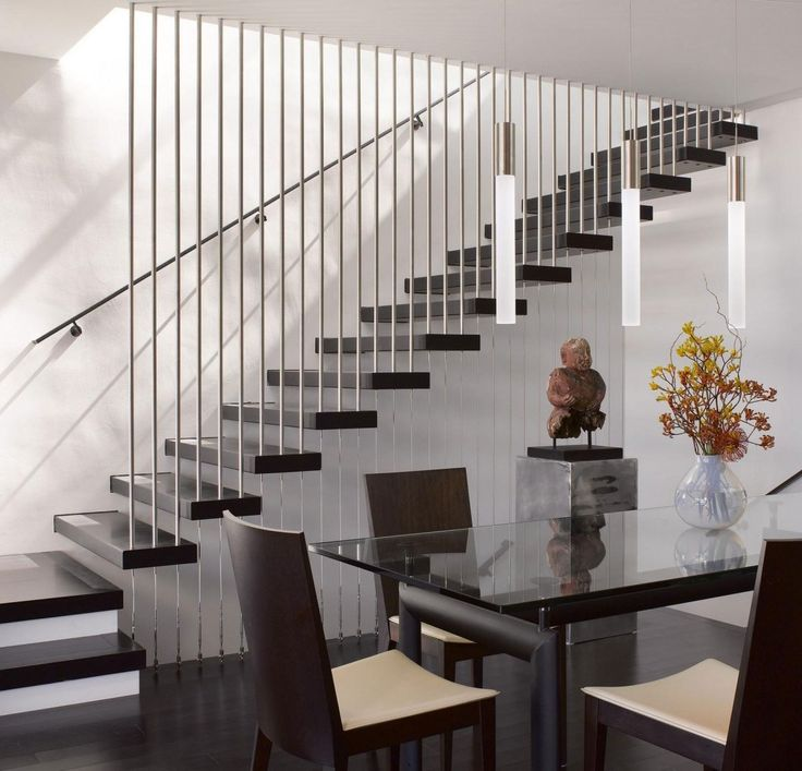 Best Wooden Stair Railing Ideas With Dining Area For House In 400 x 300