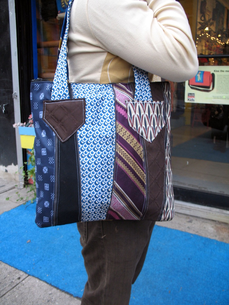 Does your dad have any extra ties that he doesn't use? Well if he does that you can make a tie bag.