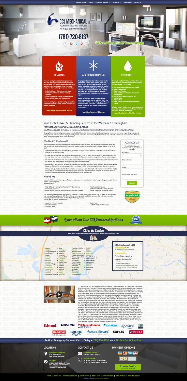 CCL Mechanical, LLC. - WALTHAM, MA heating and air conditioning HVAC website custom design and marketing through Online-Access, Inc.  Company website: http://www.cclmechanical.com/