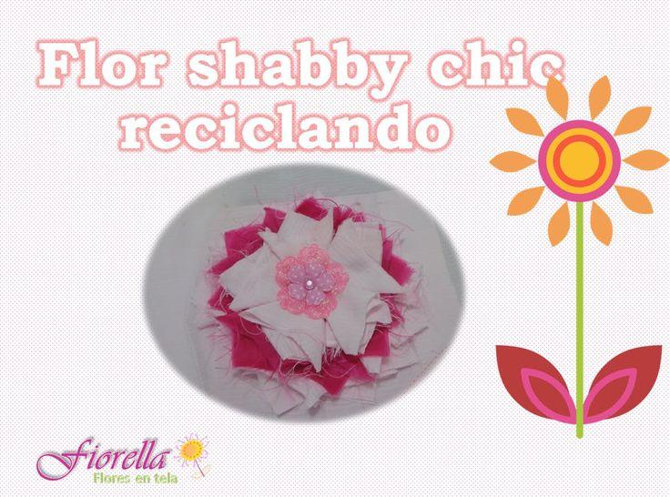 Tutorial #16 flor shabby chic