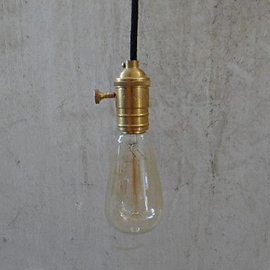 rétro 1 Pendentif de lumière traditionnel avec du fil tressé – USD $ 39.99