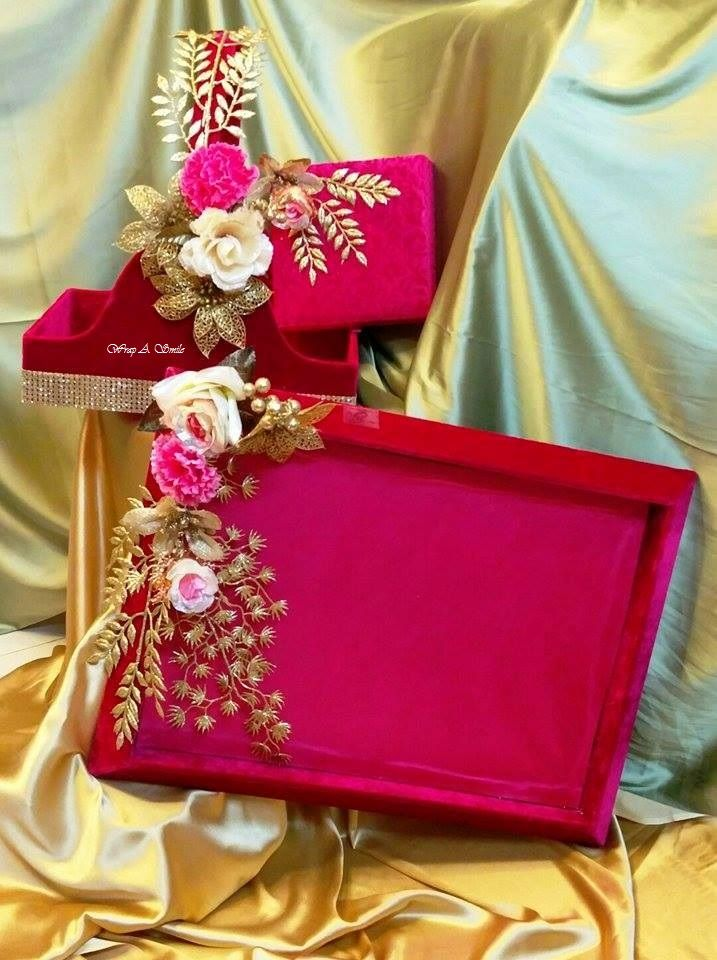 Theme Trousseau Sets At Wrap A Smile #trousseaupacking #weddingpacking #weddinggifts #bridaltrousseau #weddings #bridalshower #bridetobe #roka #shagun #engagement For trousseau packing services call or whatsapp us on +91 9820720448