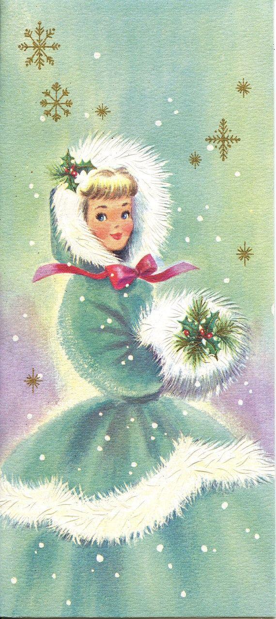 vintage  christmas card   Vintage Christmas Card   Christmas Memories
