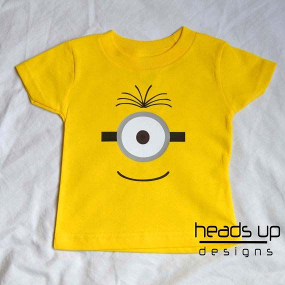 Toddler Minion Shirt  One Eye Minion tshirt Boy  by headsupdesigns, $14.95