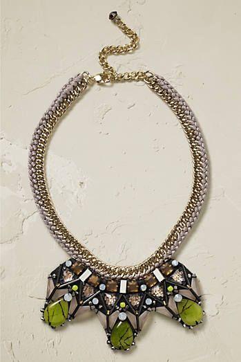 Nocturne Stone Bib Necklace