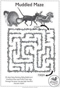 Hairy Maclary activity - muddled maze