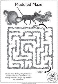 Hairy Maclary activity - muddled maze