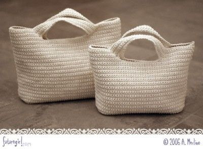 crochet bag pattern, it looks likes it is just begging to have flowers all over it!