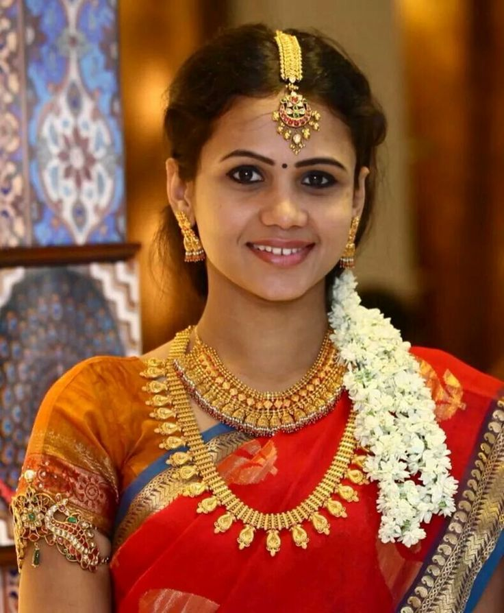 Wedding Hairstyle Tamilnadu: Manimegalai In Saree