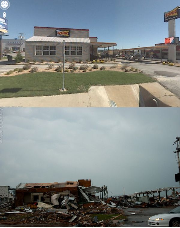 Before and Afte... Ef5 Tornado Damage Before And After