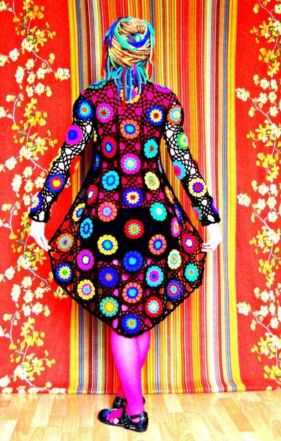 Abstact Pop Art Crochet Cardigan by babukatorium on Flickr This is just amazing.  Probably a little too wild for me, but certainly arty and creative, so I can appreciate it!  What about you? Would you wear something this 'out there'?