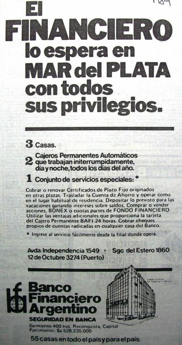 Banco Financiero Argentino 1984