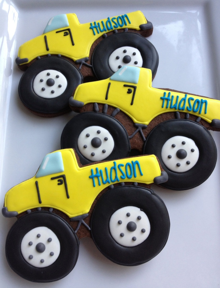 monster truck cookies