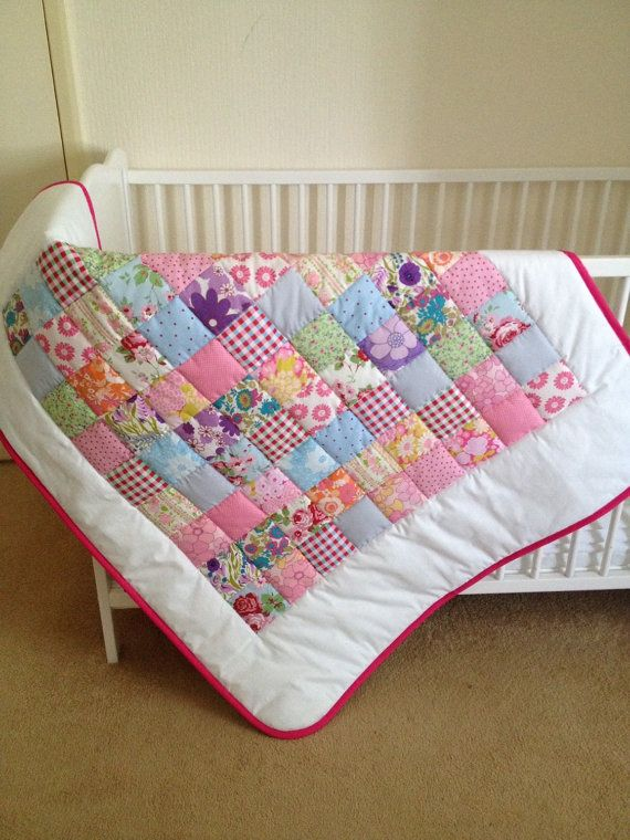 Lap quilt baby flower quilt cath kidston retro by Angiespatch