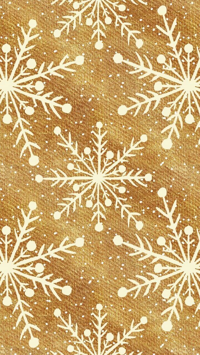 Gold And White Ivory Cream Snowflake Christmas Xmas Wallpaper Christmas Wallpaper Backgrounds Gold Christmas Wallpaper