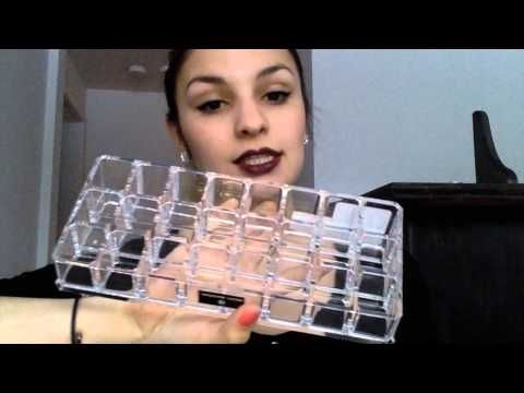 Youtube video about how to clean up your mess and organize it a cute simple way! A makeup addiction is no excuse!