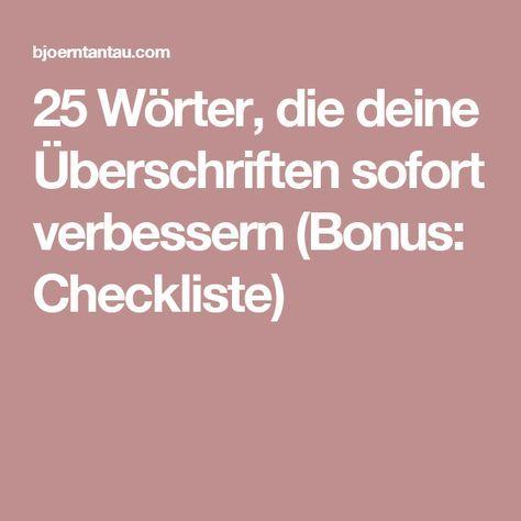 25 Wörter, die deine Überschriften sofort verbessern (Bonus: Checkliste)