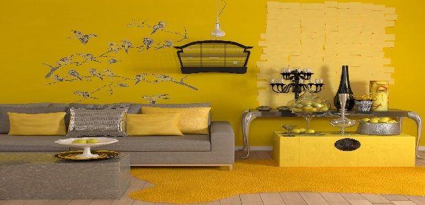 Living Room Decoration Yellow