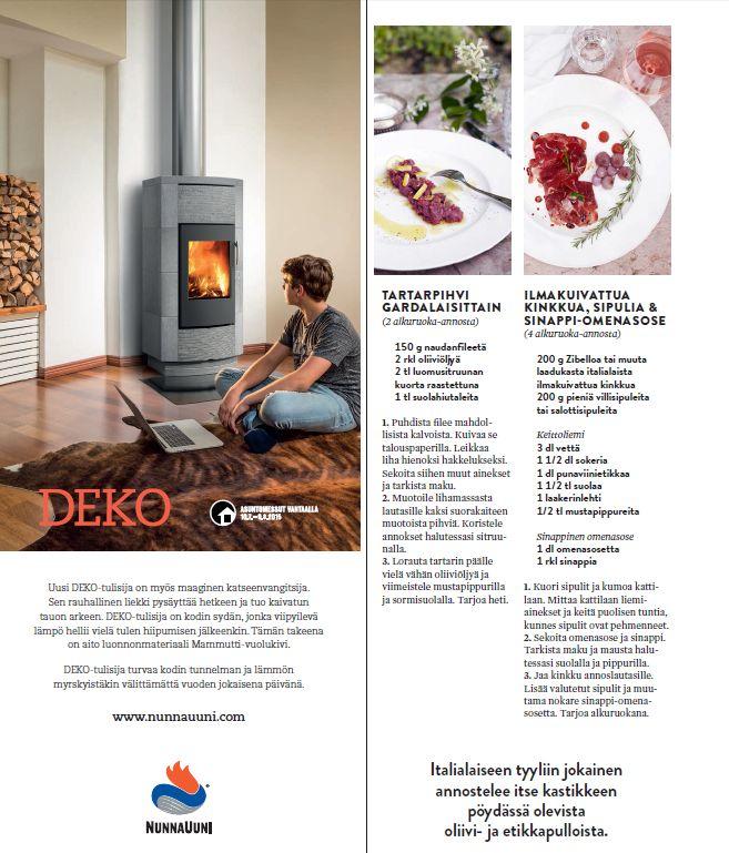 (3) Avotakka 8/2015   Luksusta luostarissa   Villa Arcadio   toimittaja Helena Saine-Laitinen ja kuvaaja Sanna Peurakoski