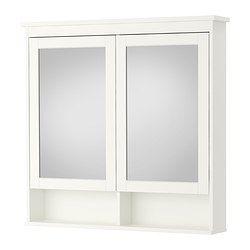 HEMNES Spiegelschrank 2 Türen, weiß - weiß - 103x16x98 cm - IKEA 149€