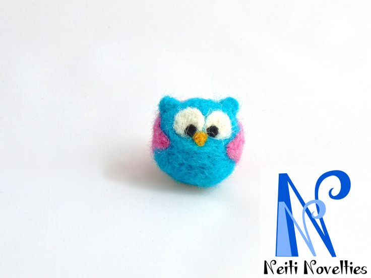 My first felting experience - Felted owl :)
