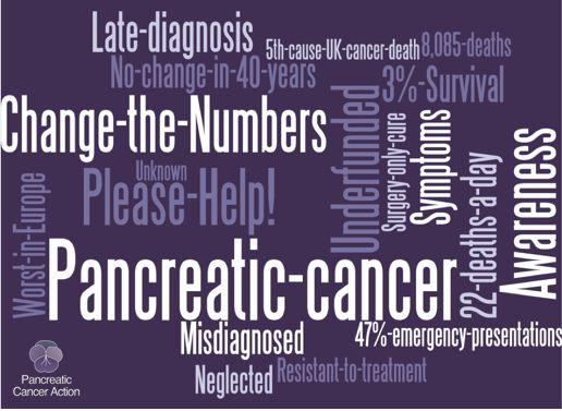 Awareness cloud for pancreatic cancer
