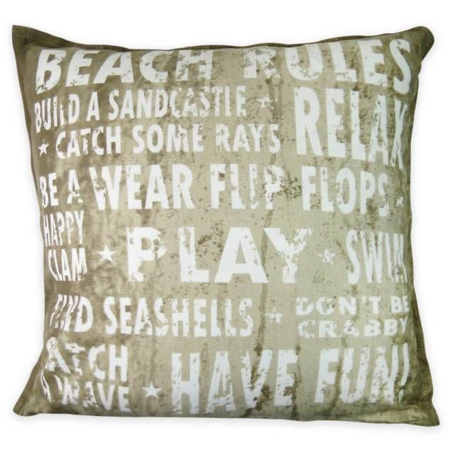 product image for Park B. Smith® Vintage House Beach Rules Square Throw Pillow