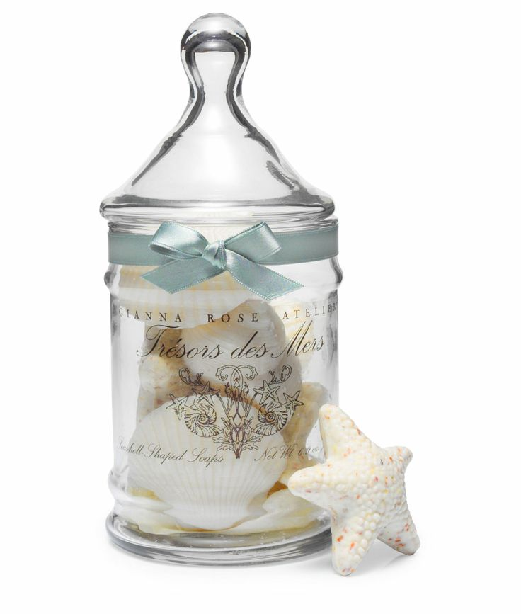 SEASHELL SOAPS IN APOTHECARY JAR  $30.00