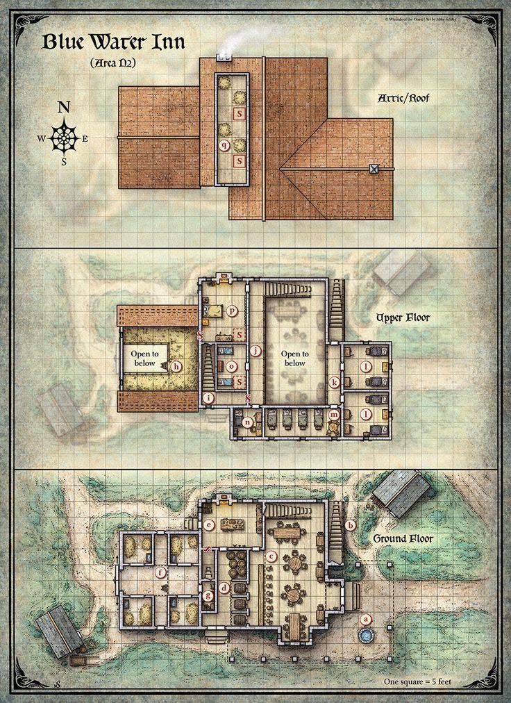Blue Water Inn Map 1467 best RPG